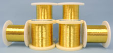 Gold plated Be Cu # 25 alloy